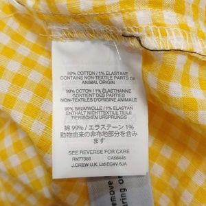 J. Crew Tops - J.Crew Gathered popover shirt in microgingham 6